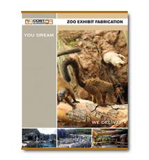 Zoo Exhibit Fabrication Brochure Cover Photo